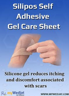 Silicone gel reduces itching and discomfort associated with scars