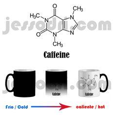 Taza mágica magica mug cafe cafeina molecula quimica geek nerd desayuno 325ml