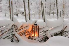 "thevoyaging: "" Snow Lantern, Finland photo via carlena """