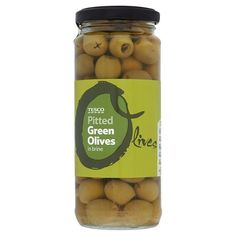 Tesco Pitted Green Olives In Brine - Groceries - Tesco Groceries Diabetic Meal Plan, Diabetic Recipes, Healthy Recipes, Zombie Food, Black Kitchen Decor, Tesco Groceries, Pitted Olives, Pink Foods, Grocery Items