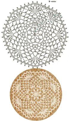 Trendy ideas for crochet blanket flower ganchillo Crochet Doily Diagram, Crochet Mandala Pattern, Crochet Circles, Crochet Doily Patterns, Crochet Round, Crochet Squares, Crochet Home, Thread Crochet, Crochet Designs