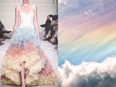 "Blog PHOTO & L' ART by Lily on Instagram: ""Blog PHOTO & L' ART ♡.♡ Colors  • Marchesa S/S 2016 RTW. Photo by Yannis Vlamos via vogue.com • & • Rainbow sky. Photo (author unknown) via pinterest • Dress by @marchesafashion #Marchesa Collage by @l_i_ll_i_u_m All collages by tag #LiliyaHudyakova"""