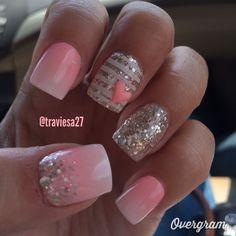 My Ombré Glitter Nails • Nail Art • Nail Designs