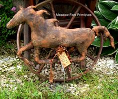 Galloping Horse Make-do. Contact for price and ordering information. Folk art by Meadow Fork Primitives