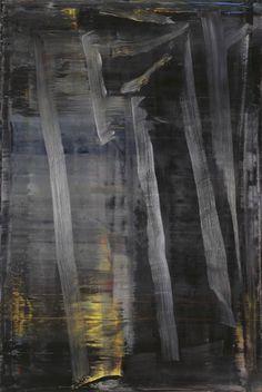 Gerhard Richter, Wald (Forêt), 2005. Huile sur toile, 197 cm x 132 cm. Catalogue Raisonné: 892-3. The Museum of Modern Art (MoMA), New York, États-Unis. Donation promise de Leonard et Susan Feinstein © 2017