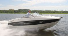 The Bayliner 642 Overnighter can also be a watersports platform in addition to a cruising boat.