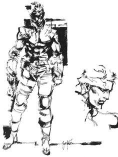 Solid Snake Sketch, Metal Gear Solid 1