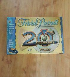 Trivial Pursuit 20th Anniversary Edition Hasbro Board Game
