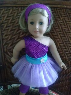 Barbie Princess And Popstar Keira Purple Dress By HandmadebyCatira 5499