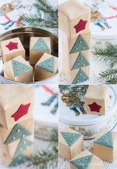 Cubi Sfondo / Cubi con albero di Natale - Riunioni serali