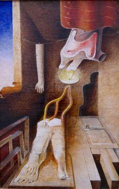 Otto Tschumi Da ruht die Sünde vor der Tür, 1937 Museums, In This Moment, Painting, Surrealism, Art, Painting Art, Paintings, Painted Canvas, Museum