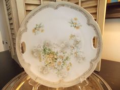 Serving PLATE German Daisy Floral Pattern by VintageCreativeAccen
