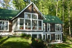 Cottage style, country design, screened porch, elevation