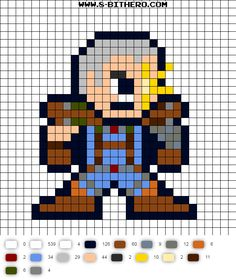 Cable 8-Bit X-Force Perler Bead Pattern