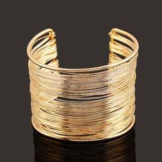 Bracelets For Women Simple Geometric Style Pop Punk Metal Bracelet Vintage Bangles