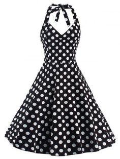 GET $50 NOW   Join RoseGal: Get YOUR $50 NOW!http://m.rosegal.com/vintage-dresses/vintage-halter-neck-polka-dot-643293.html?seid=7355804rg643293