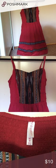 Tribal print dress Red tribal spaghetti kids dress Xhilaration Dresses Casual