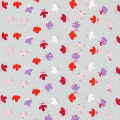Jersey Spring Blossom 3 - Cotton - Spandex - grey