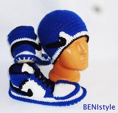 Nike Air Jordan Shoes, Crochet Converse Slippers, Adult Shoes, House Slippers, Men's Crochet Shoes, Men's Crochet Adult Converse Slippers, by BENIstyle on Etsy