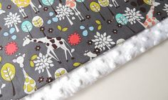 Baby Blanket MADE TO ORDER Giraffe Garden by charlottechicstore