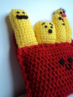 Cute French Fry Pillow by DoodleBumpkin on Etsy