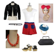 This stylish outfit for the Thrift Shop fashion mission is prettily accessorized and is just $194!