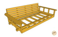 Take a few days on a weekend to make this porch bed swing. We have the plan and a video to help make your porch bed swing. Porch Bed Swing Plans, Woodworking Workbench, Woodworking Projects, Youtube Woodworking, Woodworking Store, Workbench Plans, Woodworking Patterns, Woodworking Machinery, Woodworking Videos