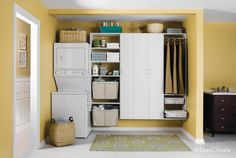 You'll have no trouble remembering these three S's of creating the perfect laundry room layout Laundry Room Tables, Ikea Laundry Room, White Laundry Rooms, Laundry Room Layouts, Laundry Room Shelves, Laundry Room Cabinets, Laundry Room Design, Home Organization Hacks, Laundry Room Organization