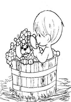 unknown color by number coloring pages | 37 Best Precious Moments images | Precious moments, In ...