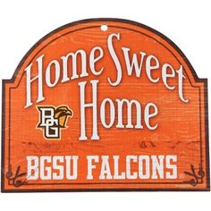 Bowling Green State Falcons 10'' x 11'' Home Sweet Home Tier Wood Sign