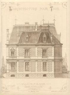 VILLA I re CLASS Facade Side to the East. L.BEZENCENET, ARCHITECT Imp. Monrocq. Paris   U_40_604988433038_3272609173_872965956a_o.jpg (2542×3457)