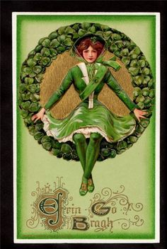Vintage postcard - Erin Go Bragh