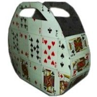 Deck of cards, duct tape, scissors= Playing card purse!