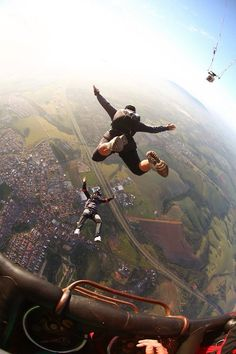 Sky Diving, even though im terrified i need to try this at some point in my life
