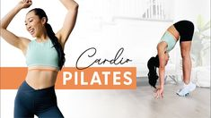 10 Minute Cardio Pilates Workout - burn fat + tone muscle, no jumping! Cardio Pilates, Cardio Routine, Toning Workouts, At Home Workouts, Exercises, Blogilates, Muscle Tone, Lean Body, Boost Your Metabolism