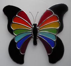 hummingbird stained glass suncatcher - Google Search #StainedGlassButterfly