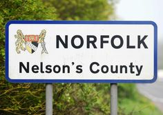 County border sign at Beccles.; Norfolk - Nelson's County; Picture: James Bass