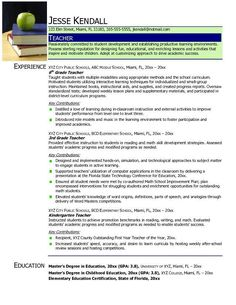 resume instead of the apple picture maybe a photo of me - Sample Of Teacher Resume