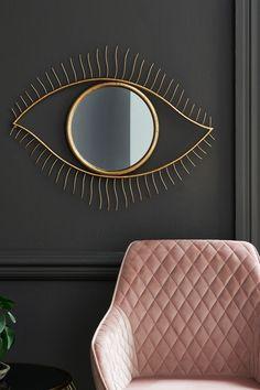 Next Metal Eye Mirror - Gold Mantle Styling, Overmantle Mirror, Buy Metal, Sunburst Mirror, Gifts For Office, Eye Art, Decoration, Eyes, Wall