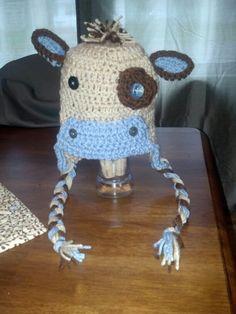 Cow crochet hat
