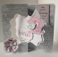 Twister card featuring Vintage Boho