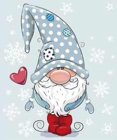Greeting Christmas card Cute Cartoon Gnome on a blue backgroundWelcome Winter Gnome Snowflakes Winter Sign- Millions of Creative Stock Photos, Vectors, Videos and Music Files For Your Inspiration and Projects.Solve Frosty Gnome jigsaw puzzle online w Christmas Rock, Christmas Gnome, Christmas Drawing, Christmas Paintings, Welcome Winter, Illustration Noel, Illustrations, Navidad Diy, Christmas Decorations