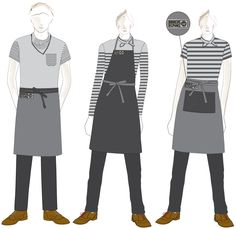 We work directly with clients, but also collaborate with other multidisciplinary design practices to create exceptional uniform solutions. Cafe Uniform, Waiter Uniform, Hotel Uniform, Men In Uniform, Staff Uniforms, Work Uniforms, Kellner Uniform, Waitress Outfit, Restaurant Aprons