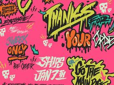 Dribbble - by Kyle Crawford Typography Drawing, Typography Design, Logo Design, Graffiti Font, Graffiti Tagging, Types Of Lettering, Hand Lettering, Vaporwave Art, Bad Friends