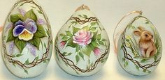 Gourd Easter Ornament Hand Painted Bunny Rabbit by FromGramsHouse,