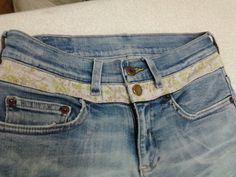 Jean waist band alteration