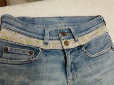 Aumentar altura do jeans