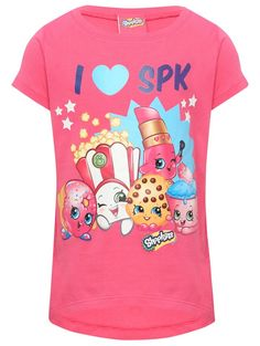 M&Co. Girls I Love SPK Shopkins t-shirt. Fan of Shopkins will love this bright pink t-shirt featuring a selection of Shopkins chracters.