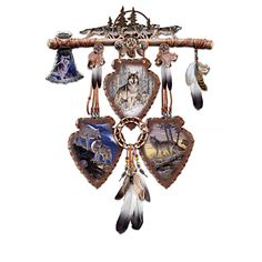 Buy Native American Inspired Wall Decor Collection: Spirits Of The Pack at Wish - Shopping Made Fun Native American Decor, Native American Fashion, Native American Indians, American Indian Decor, Native American Images, Native American Artwork, American Clothing, American Jewelry, American Artists
