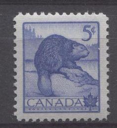 Canada #336 5c ultramarine Beaver VF 75/80 NH